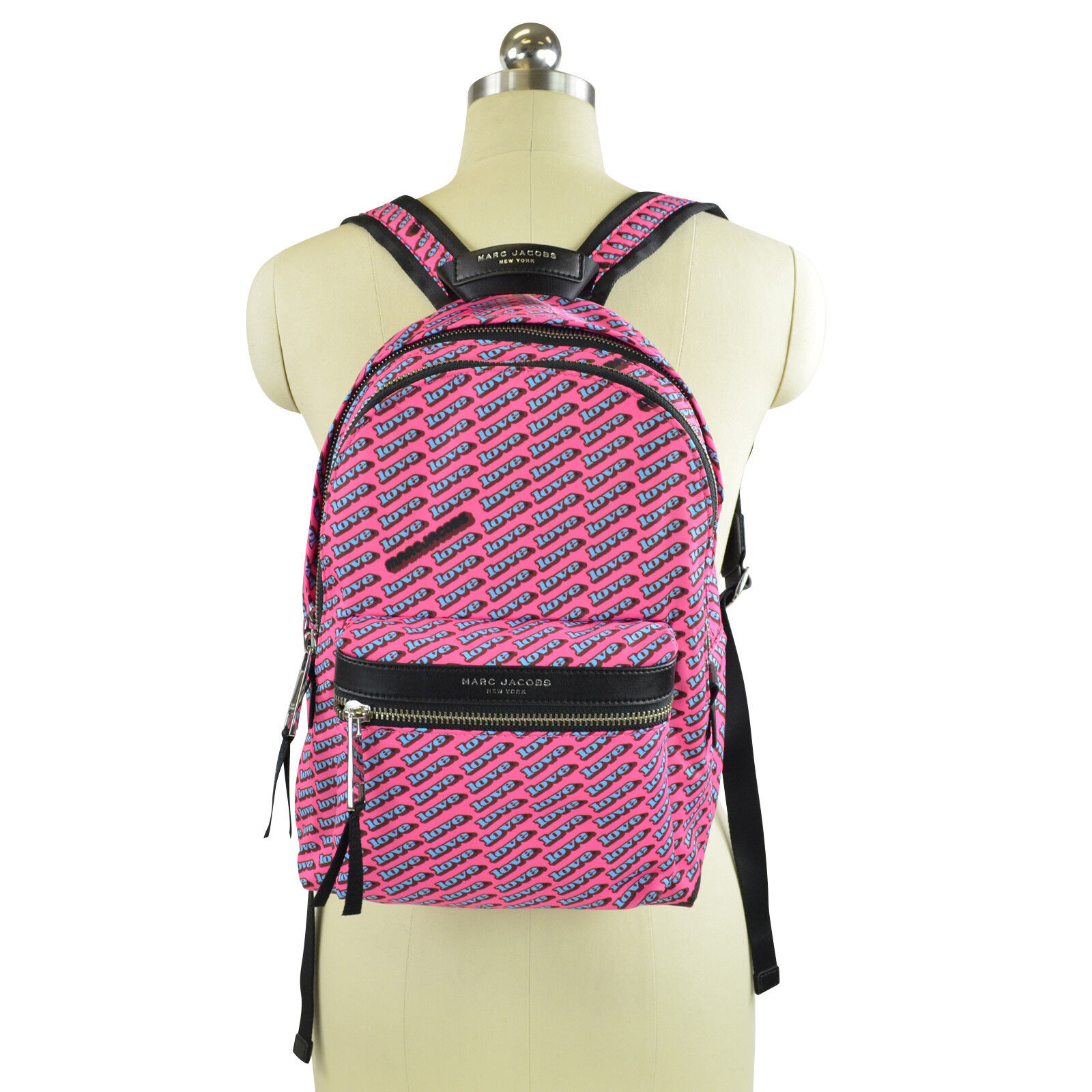 acd582d90c9f Details about NWT Marc Jacobs Women's Medium Love Print Backpack in Bubble  Gum Multi