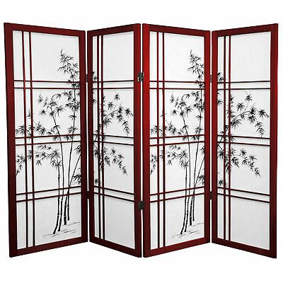 Oriental Furniture 4 ft. Tall Double Cross Bamboo Tree Shoji Screen Double Crossed Bamboo Tree