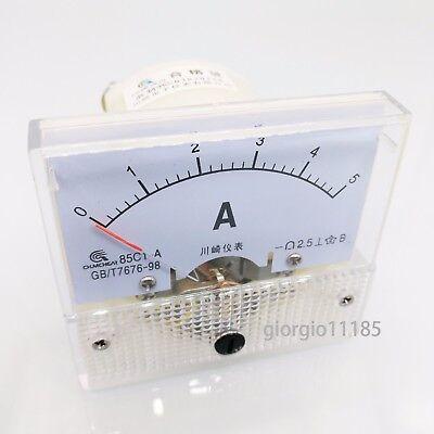 Us Stock Analog Panel Amp Current Ammeter Meter Gauge 85c1 0-5a Dc