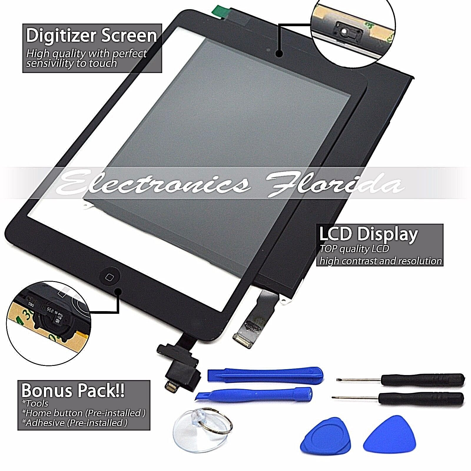 Lcd + Touch Screen Digitizer Replacement For Apple Ipad M...