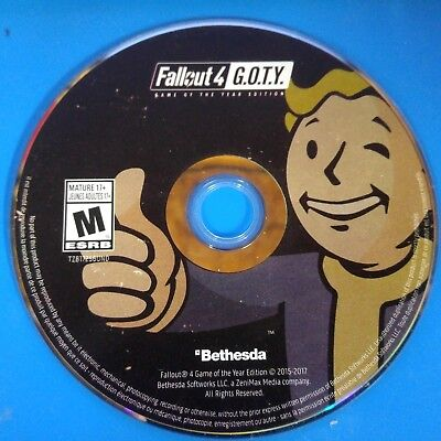 Fallout 4: DISC ONLY NO CODE Game of the Year Edition (PC, 2017) (Fallout Game Of The Year Edition Pc)