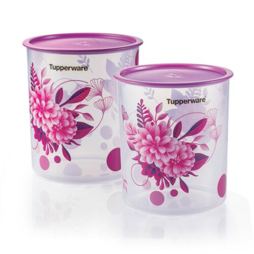 Tupperware Camellia One Touch Canister Large 4.3L (2 units)