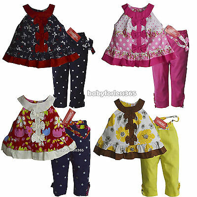 NWT Gymboree Baby Girls Shirt legging & Headband Size 3 6 9 12 18 24 months