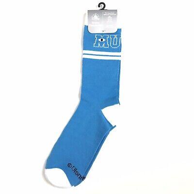 Disney Store Men Size Medium-Large Blue White Socks Crew Monsters University