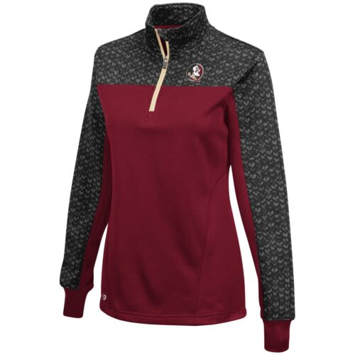 Florida State Seminoles Florida State Scaled Quarter Zip Pullover Women's NWT XL