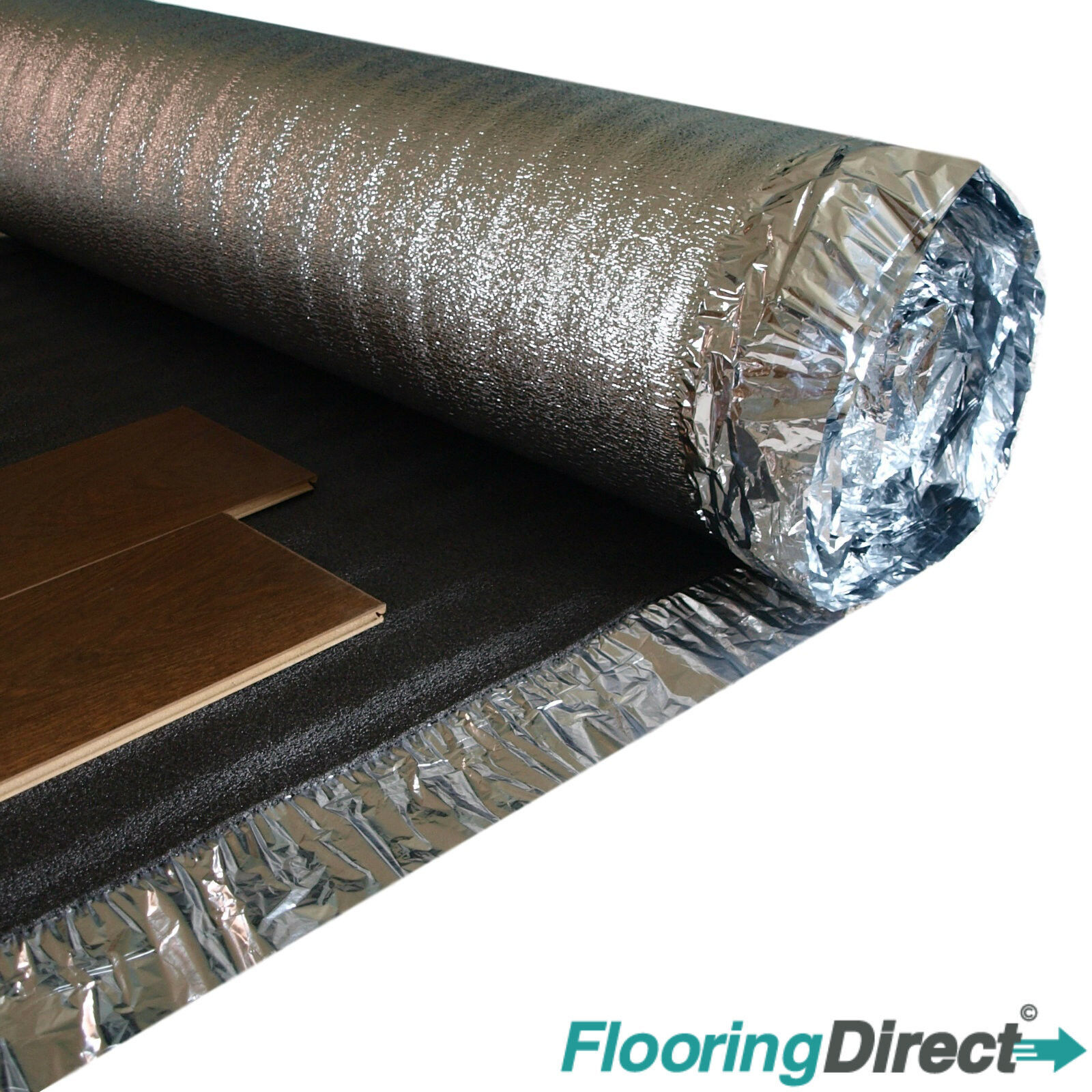 Wood or Laminate Flooring Acoustic /& Heat Insulation 5mm Sonic Silver Underlay