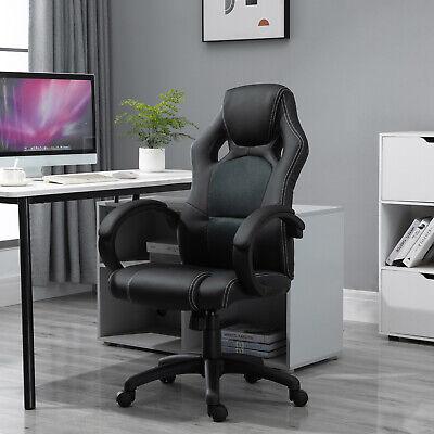 Computer Games - HOMCOM Racing Swivel Office Gaming Computer Chair Mesh Bucket PU Leather
