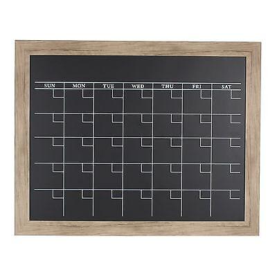 Beatrice Rustic Brown Framed Magnetic Chalkboard Calendar by DesignOvation ()