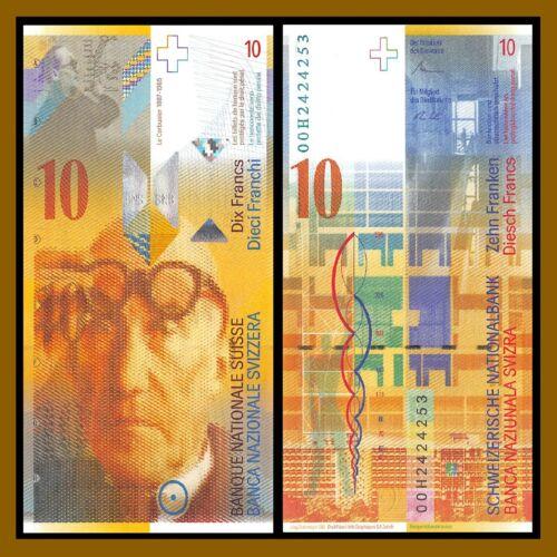 Switzerland 10 Francs, 2000 P-67a Swiss National Bank Unc