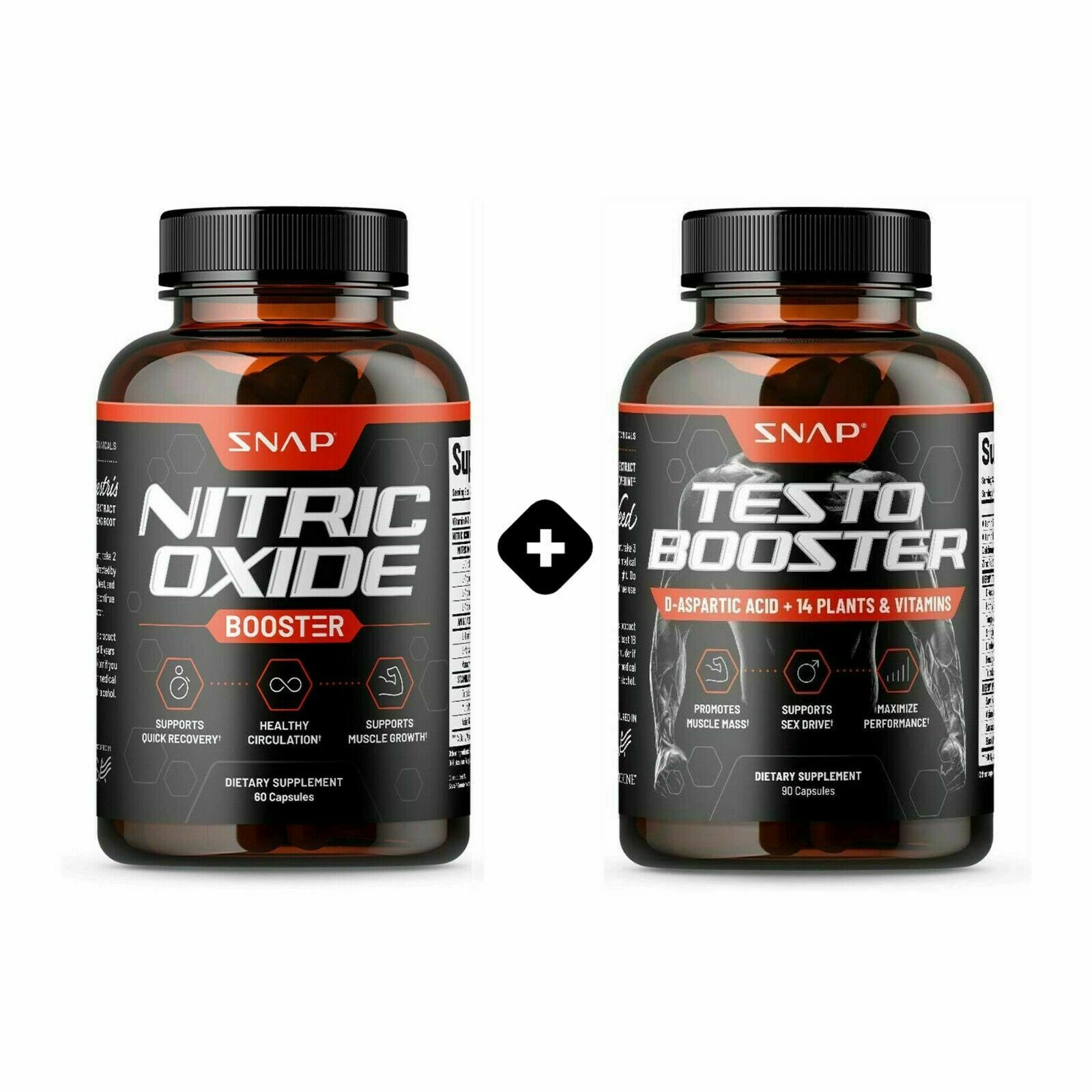 Testosterone Nitric Oxide Booster Bundle Pre Workout Maximum Energy Libido pills