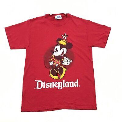 30103dc9ef Vintage 90s Disney Minnie Mouse Camiseta Mujer Talla Pequeña Rojo Manga  Corta segunda mano Embacar hacia