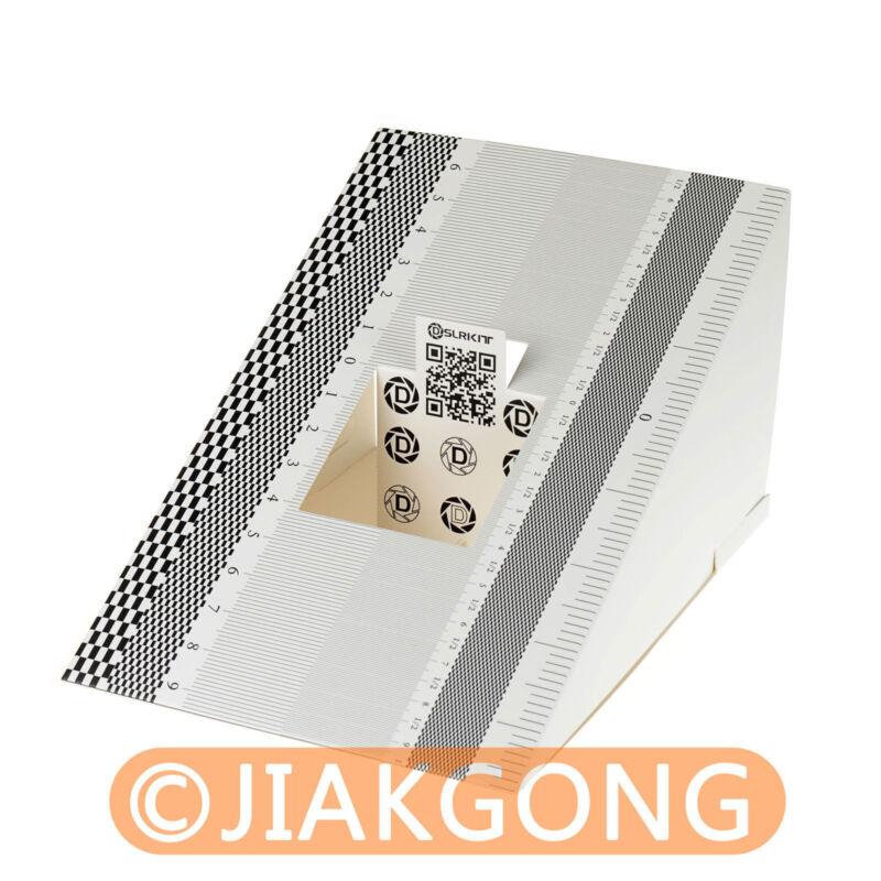 2pcs/Lot DSLRKIT Lens Focus Calibration Tool Alignment Ruler Folding Card