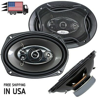 New Audiotek K7 6x9 5-Way 700 Watts Coaxial Car Speakers CEA Rated 4-Ohm (Pair)