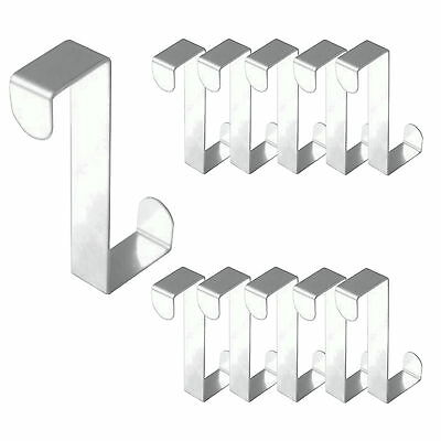 18 Stück Edelstahl Türhaken Kleiderhaken Garderobenhaken Tür Haken Türhänger