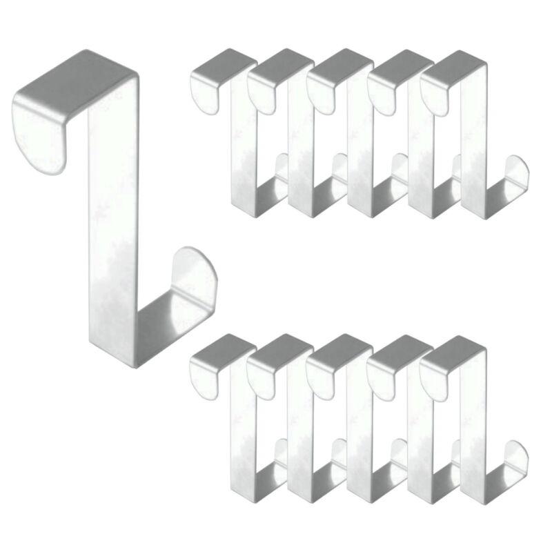 2 - 12 Stück Türhaken Edelstahl Tür Haken Kleiderhaken Universal Türgarderobe