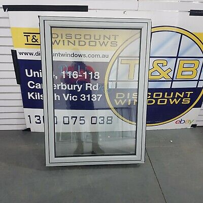 Aluminium Awning Window 1200H x 850W (Item 4813) Silver DOUBLE GLAZED