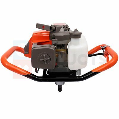 Post Hole Digger 63cc 3.4 Hpmax Gas Powered Earth Auger Borer For Fence Ground