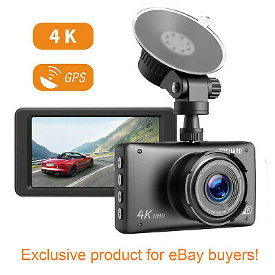 TOGUARD 4K Car DashCam GPS Ultra HD 2160P Dashboard Camera Parking Mode Recorder