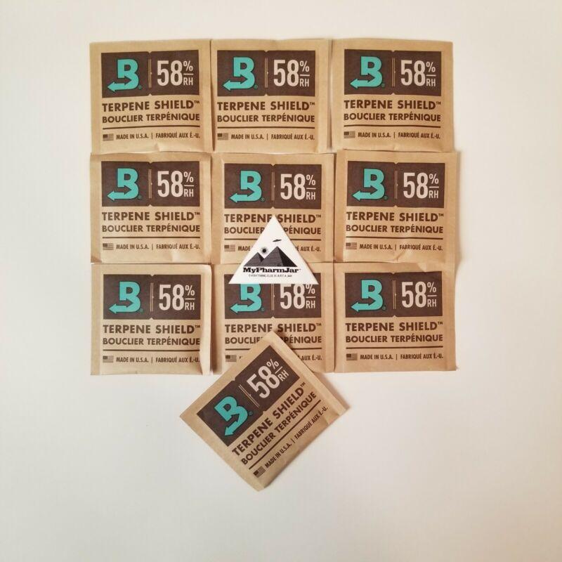 10 Pack Boveda RH 58% 8 gram Humidity 2 Way Control Humidor Fresh packs