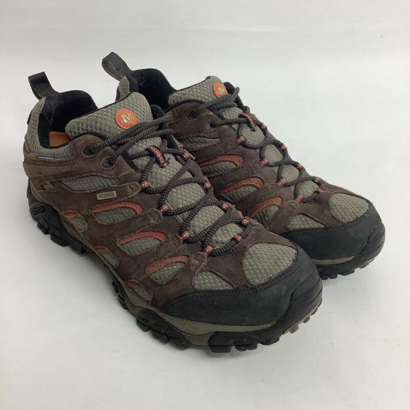 Merrell Mens Moab Espresso Waterproof Vibram J39723W Hiking Shoes Boots Size 12