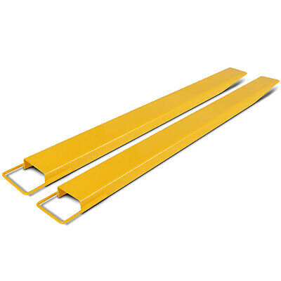 96x6 Forklift Pallet Fork Extensions Pair Slide Clamp Retaining Lift Truck