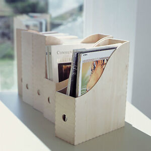 Ikea knuff 2 wooden magazine file book paper holder organiser storage boxes - Ikea rangement livres ...
