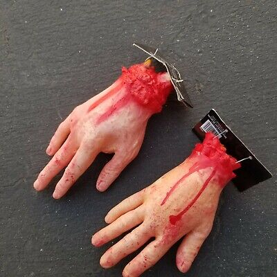 Bloody Horror Scary Halloween Prop Fake Severed Lifesize Arm Hand House