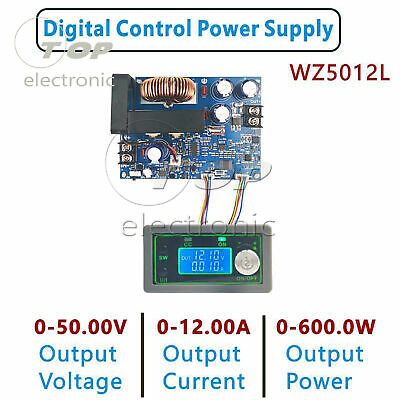 50v Programmable Cnc Adjustable Step-down Power Supply Module Lcd Display