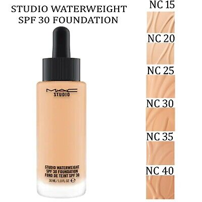 MAC STUDIO WATERWEIGHT SPF30 FOUNDATION 30ml CHOOSE SHADES 1ST CLASS DELIVERY