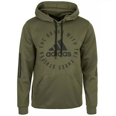 Adidas Mens Sport ID Hoodie Hoody Pullover Hooded Sweatshirt Free Tracked Post