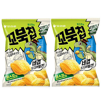 ORION Orion Four Layers Turtle Chips Corn Soup Flavor 80g x 2PACK Korean Snack