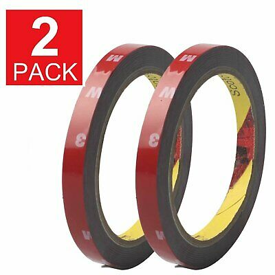 2 Pack Auto Truck Car Acrylic Foam Double Sided Attachment Tape Adhesive 3mx10mm Adhesives & Tape