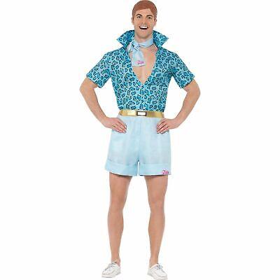Barbie Retro Safari Ken Shirt Shorts Licensed Adult Mens Fancy Dress Costume