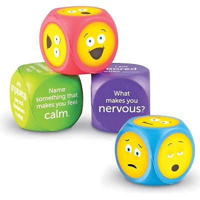 "Learning Resources Emoji Cubes Soft Foam 7""Wx9""Lx2""H 4/ST Multi LER7289"
