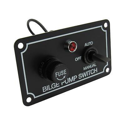 Bilge Pump Switch 12V (IP65 Water Resistant Rocker Panel Horizontal)