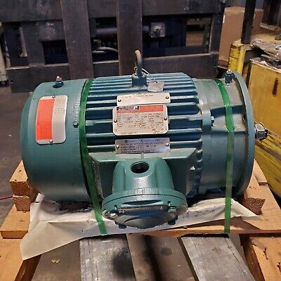 New Relaince 10 Hp Electric Motor 230460 Vac 1755 Rpm 215tdz Frame 3 Phase