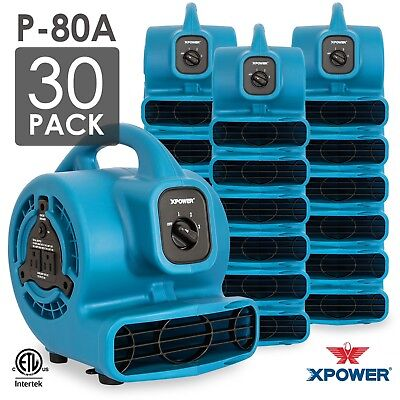 Xpower P-80a 18 Hp Mini Air Mover Carpet Dryer Blower Floor Fan-30 Packblue