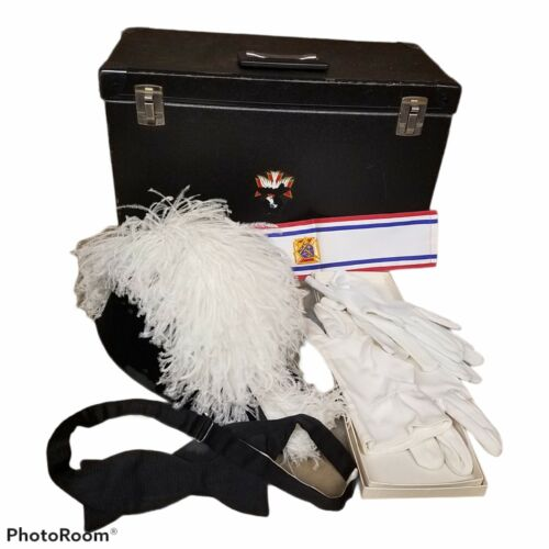 Vintage Lynch & Kelly  Knights Of Columbus Ostrich Feather Hat Society Regalia