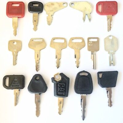 16 Key Heavy Equipment - Construction Equipment Ignition Key Set - Ships Free