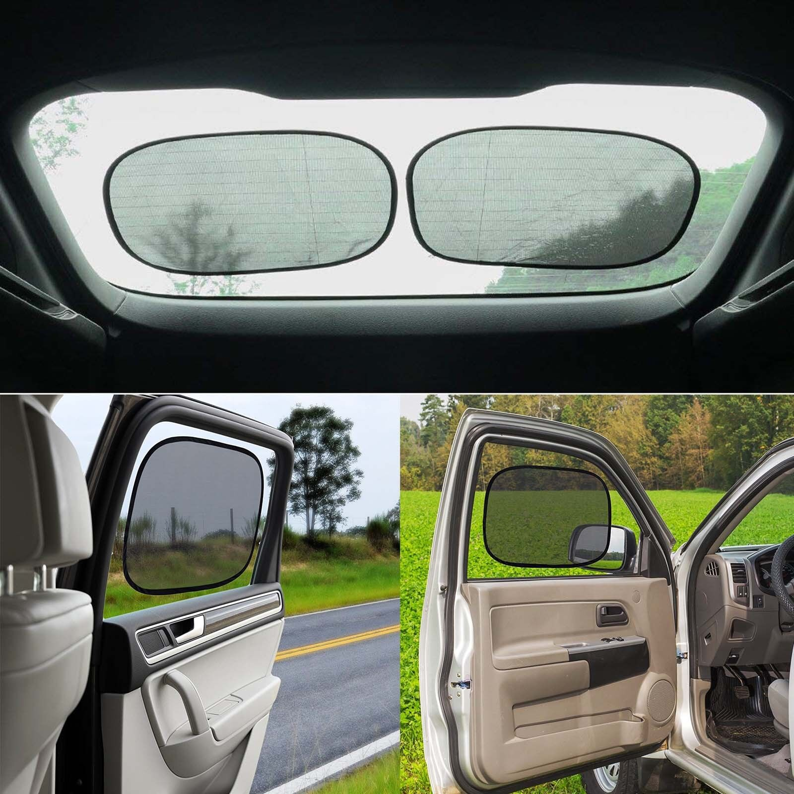 2 X Car Retractable Windshield Sun Shade Visor Folding Block Cover Front Window