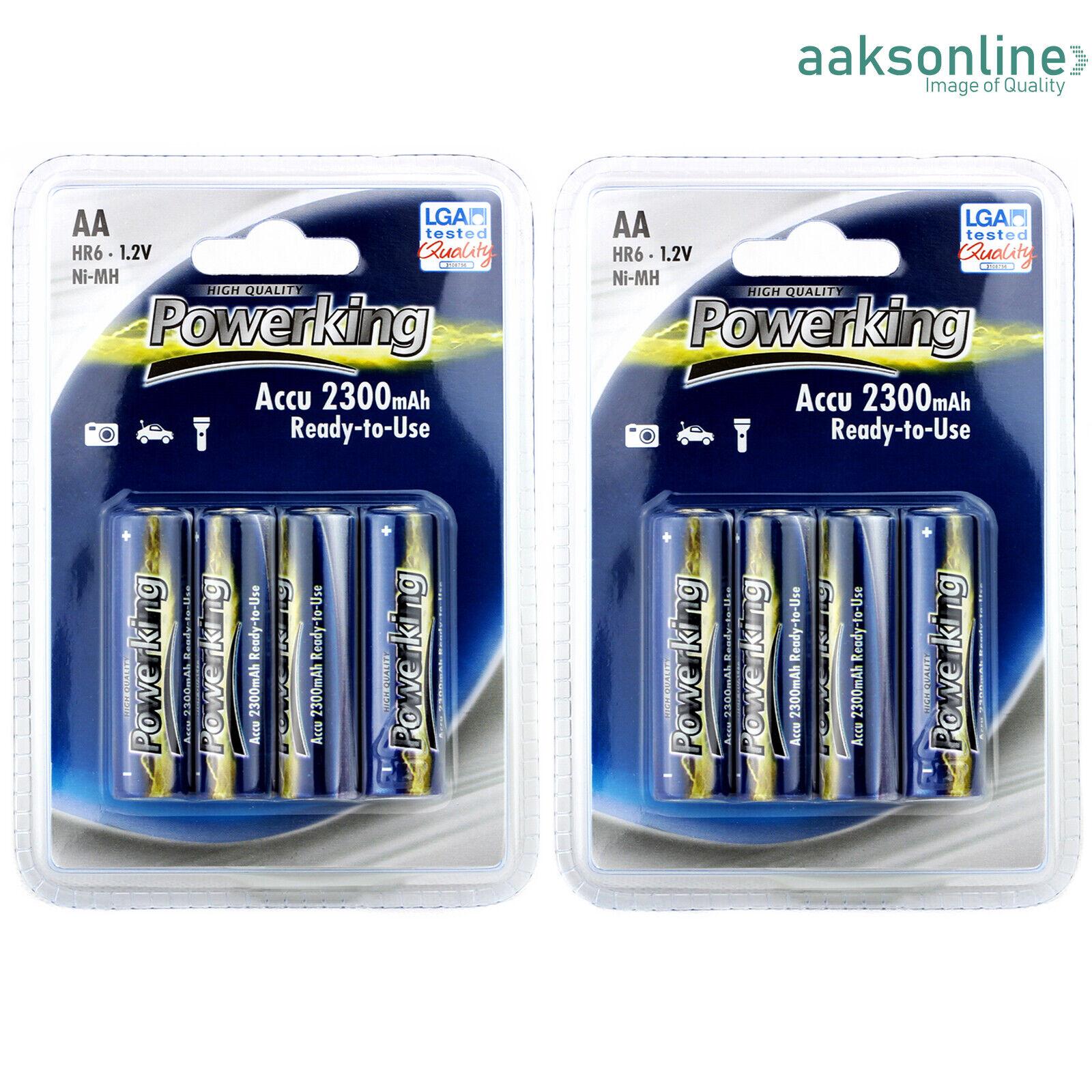 8x AA 2300 mAh AKKU NI-MH Wiederaufladbar Accu Rechargeable Batterien Mignon TOP