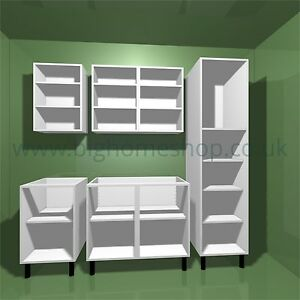 Kitchen units various sizes of base wall larders for Kitchen wall unit sizes