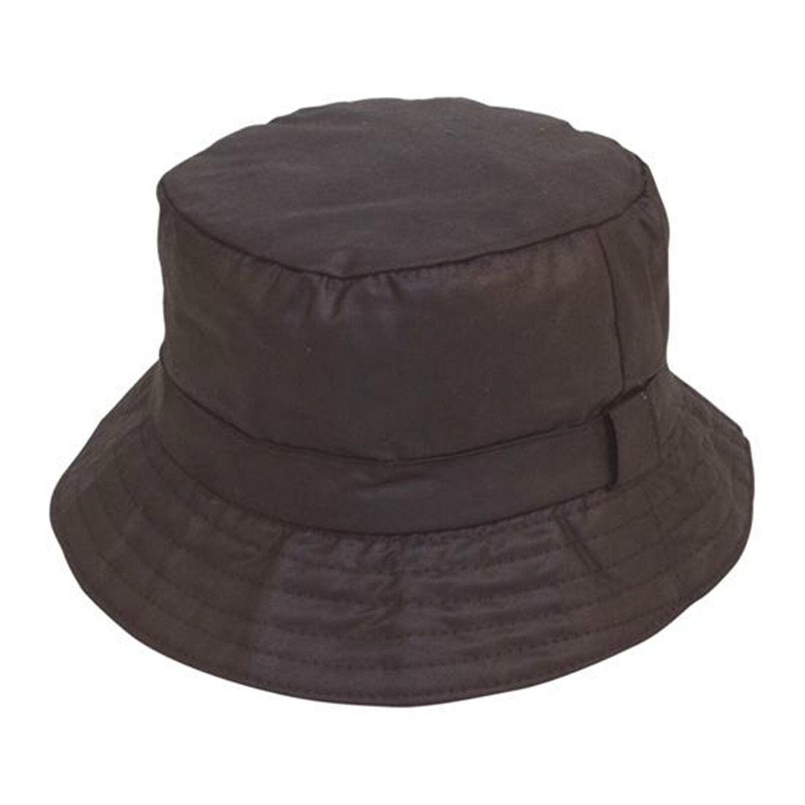 Details about Unisex Adult Quality Black Waxed Cotton Boonie Bush Wax  Bucket Hat 4ddcf368d68