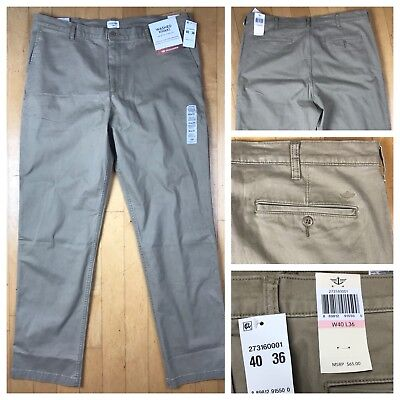 Dockers Washed Chino (Dockers The Broken In Washed Khaki Athletic Fit Chino Stretch Pants Size 40x36)