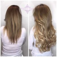 Professional Hair Extensions installation