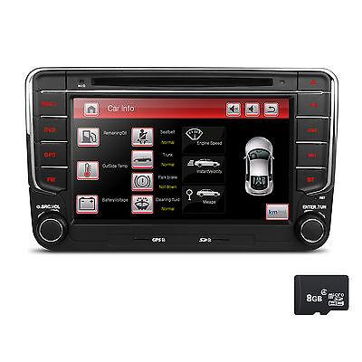 """AUTORADIO RDS CD DVD GPS 7"""" USB SD MP3 für VW T5 für Seat für Skoda Passat Golf"""