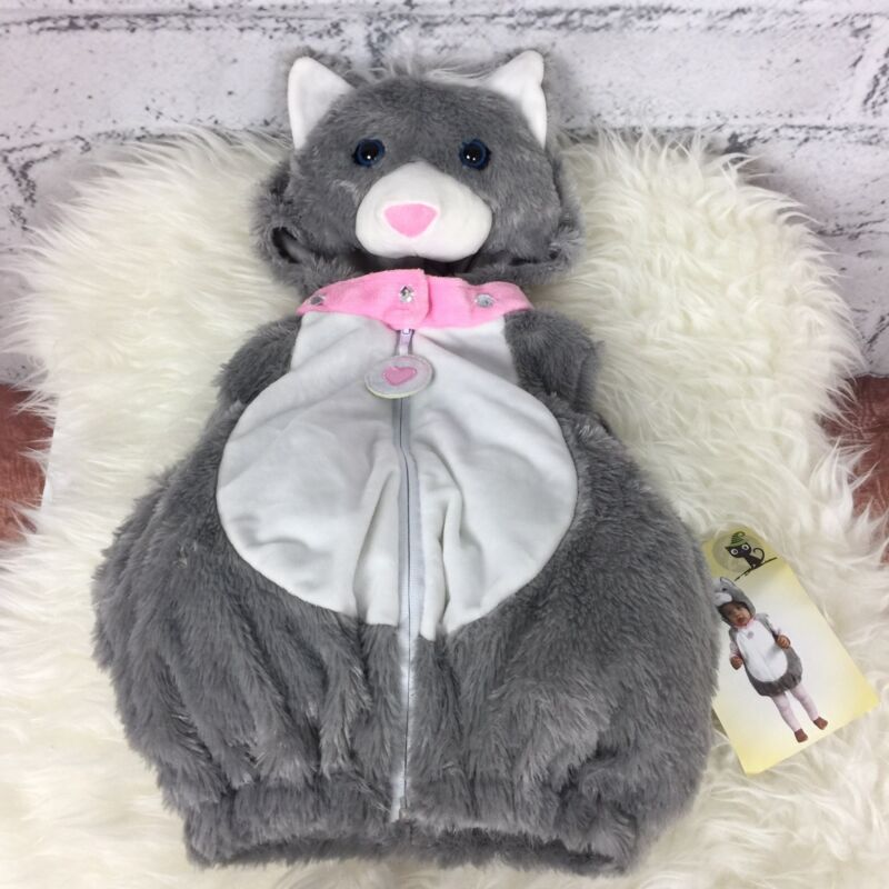 Spooky Night Baby Toddler Halloween Costume Kitty Cat One-Piece Sz 3-6 Months
