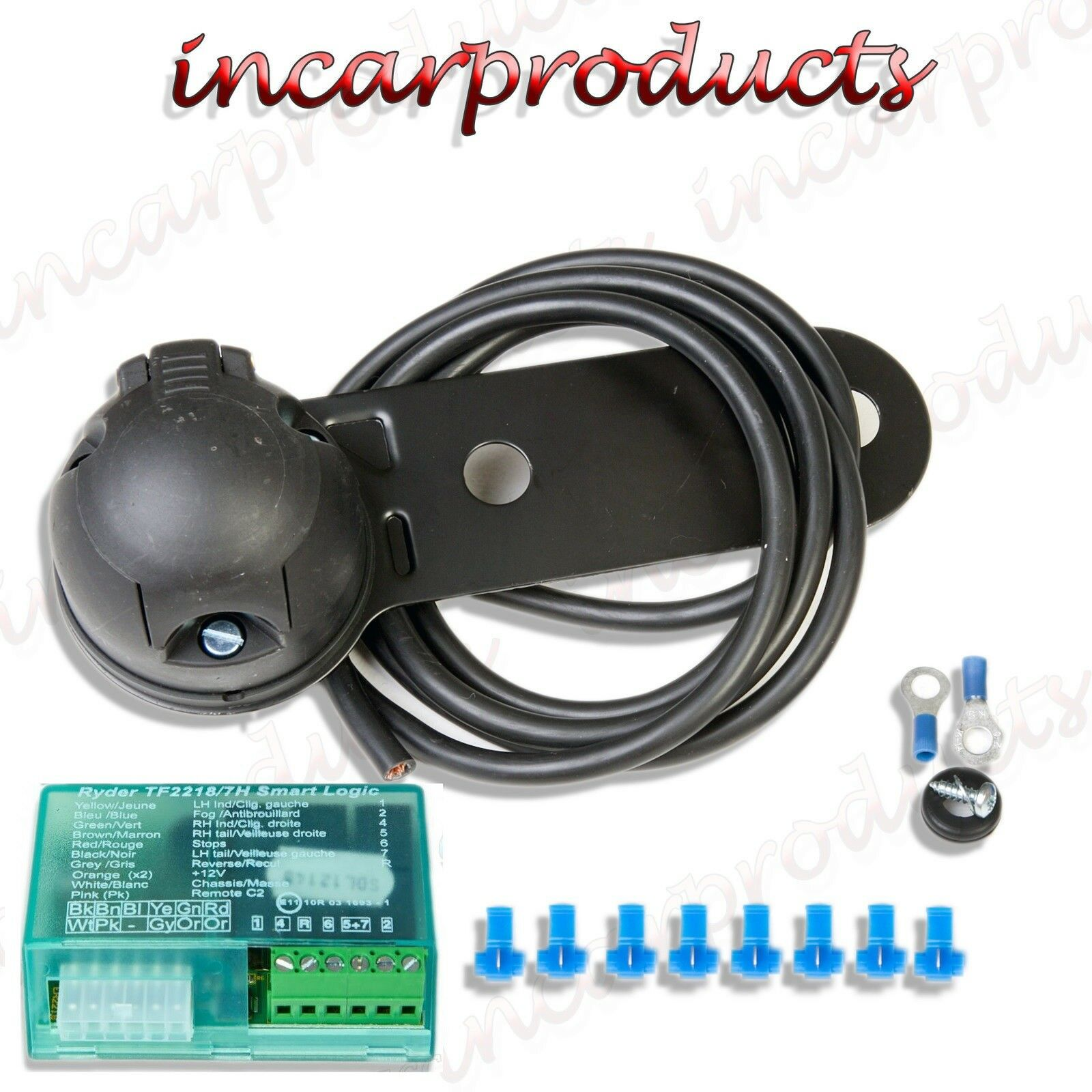 12n Full Single Towing Electrics Towbar Wiring Kit With Teb7as Trailer Socket Bypass Buzzer