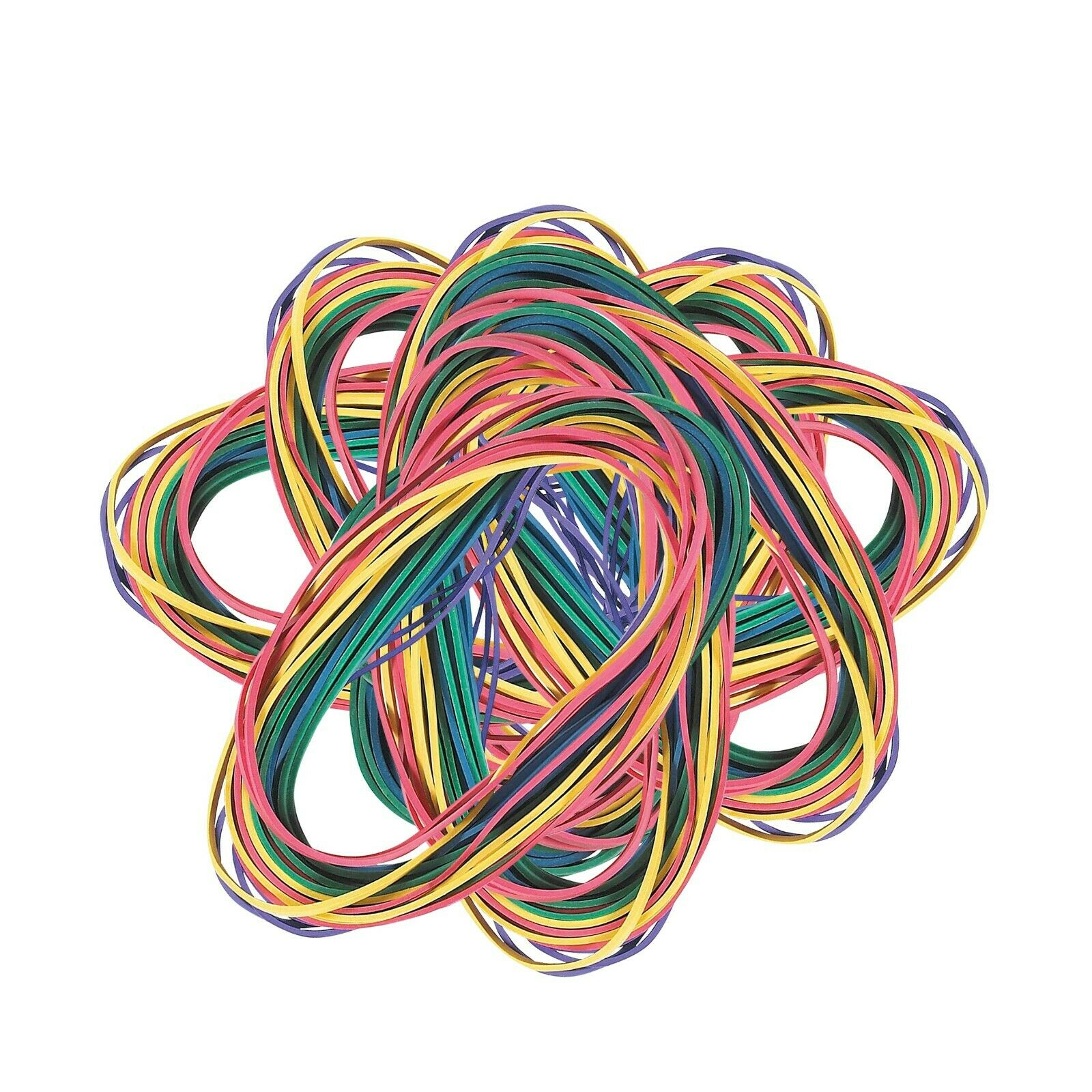 """Extra Large Rubber Bands in Assorted Colors, 7"""" x 1/8"""", 48/P"""