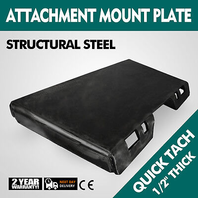 12 Quick Tach Attachment Mount Plate Adapter Trailer Hitch Skid Steer